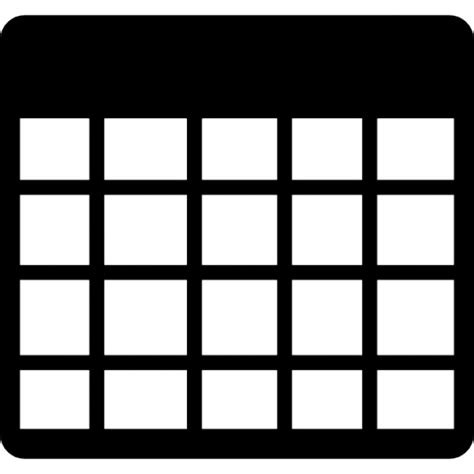 table grid of nine squares icons free