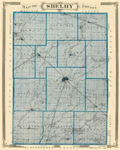 map of shelby county indiana indiana