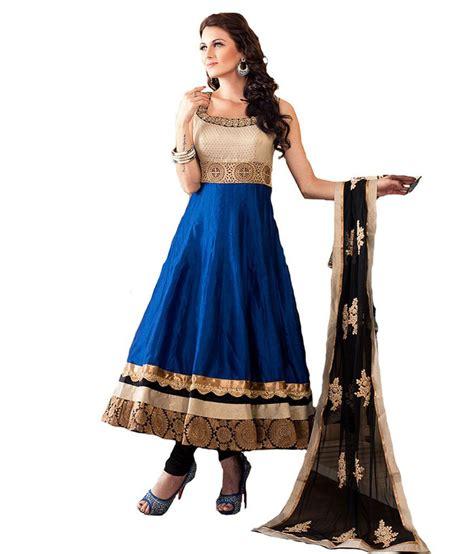 blue colour combination chutidars aishwarya design studio stunning blue and black color