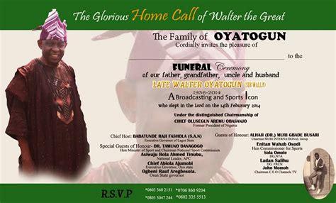 funeral invitation card sle life style by modernstork com