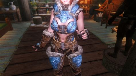brand new light stalhrim armor for cbbe hdt bodyslide at skyrim nexus 센티놋