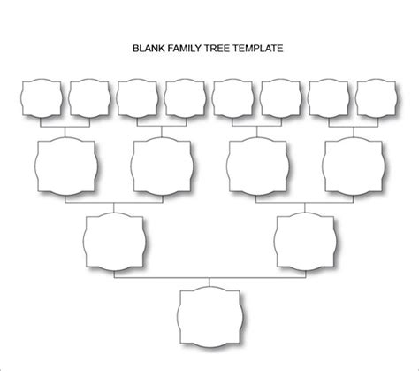 blank family tree chart 10 free excel word documents