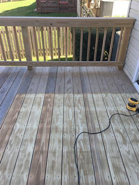 sanding  staining   deck decks ideas