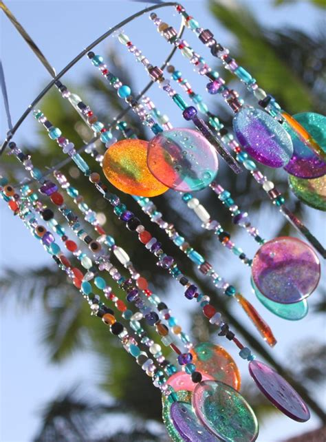 melted bead wind chimes melted cup bead windchime monthly