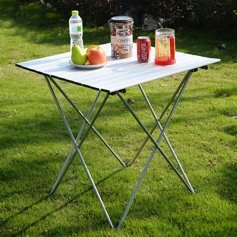 aluminum roll up table outdoor aluminum roll up folding cing table outdoor