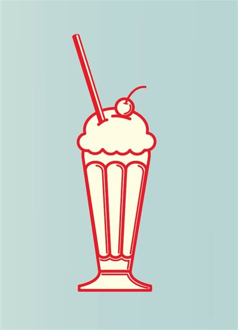 milkshake art making us thirsty vintage ice cream