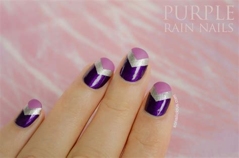 easy nail art chevron purple rain chevron nails 28 days of sonailicious nails