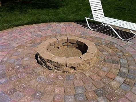 How To Build A Firepit With Pavers Best 25 Paver Pit Ideas On