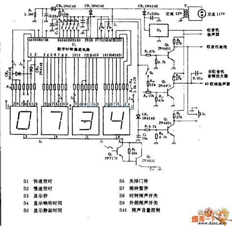 digital clock integrated circuit digital alarm clock circuit diagram basic circuit circuit diagram seekic