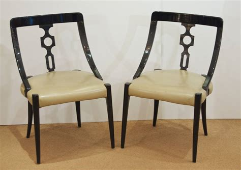 ten black lacquer dining room chairs at 1stdibs