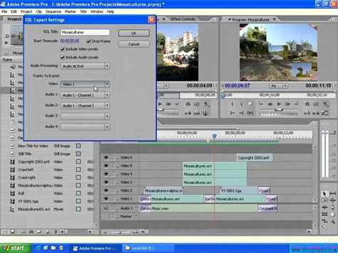 adobe premiere pro mov exporting the sequence in adobe premiere pro 2 0 to an
