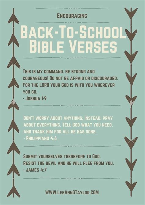 printable inspirational quotes from the bible encouraging bible verses for back to school scripture