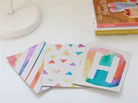 watercolour cards diy diy watercolor washi cards