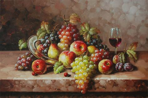 Grapes And Wine Home Decor by Oil Painting Still Life Fruit Http Lomets Com