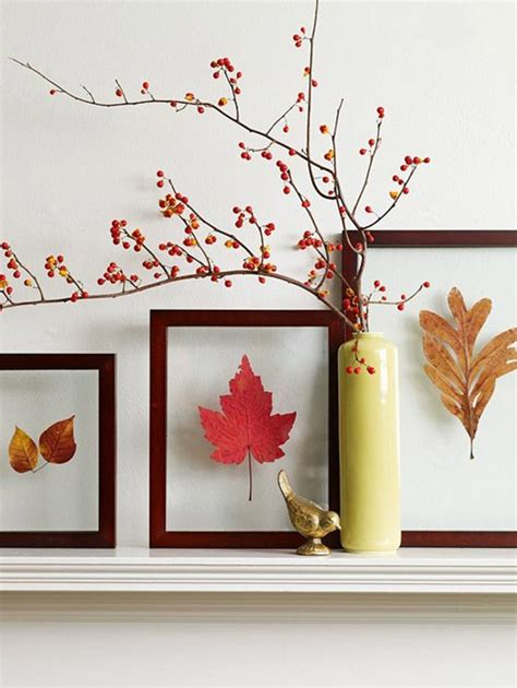 ways to decorate for fall 7 fall inspired ways to decorate with leaves