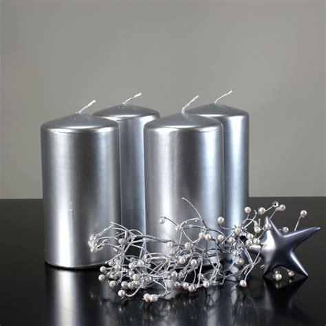 kerzen in silber kerzen safe candles 150 80 mm silber 4 st 252 ck wenzel