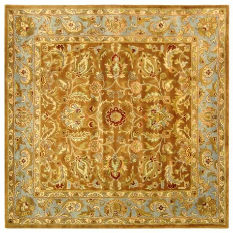 8 x 8 square area rugs safavieh heritage black 8 ft x 8 ft square area rug hg953a 8sq the home depot