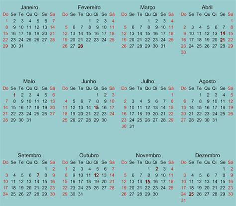 Calendario 2017 Feriados Carnaval Calend 225 2017