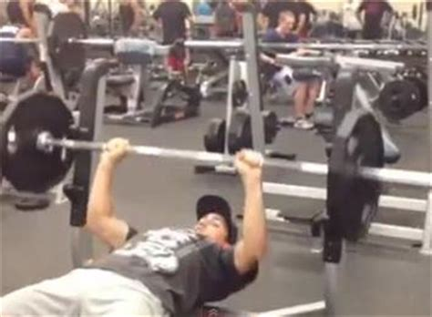 uk bench press record most bench presses of a 135 pound barbell by a 14 year old