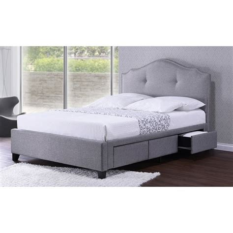 grey upholstered queen bed armeena upholstered queen storage bed in gray bbt6329