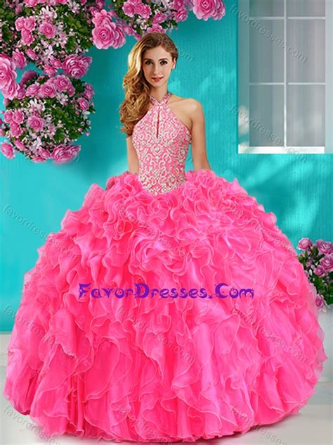 Pretty Beaded And Ruf Ed Big Puffy Sweet  Dresses With