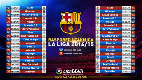 fc barcelona la liga calendar 2014 15 by selvedinfcb on