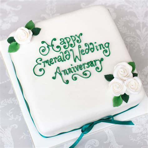 happy anniversary g swamy cake images anniversary cakes emerald wedding edinburgh glasgow