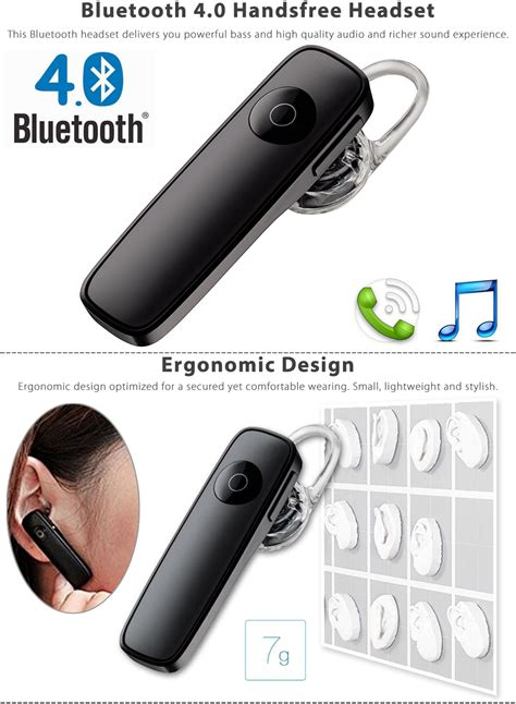 Headset Bluetooth Iphone 4 Stereo Wireless Bluetooth 4 0 Headset Earphones
