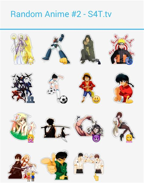 random anime stickers 4 telegram
