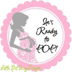 Ready To Pop Stickers Template by Baby Shower To Be She Is Ready To Pop Personalized