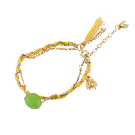 Ac4 Amour Bracelet Import bee and green lucky bracelet