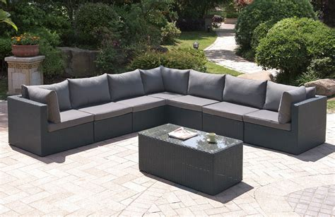 outdoor sectionals lex 8 piece outdoor modular sofa set