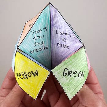 Fortune Teller Paper Craft - coping strategies fortune t by pathway 2 success