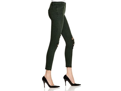 Alana Crop Jacket j brand alana cropped distressed high rise in green