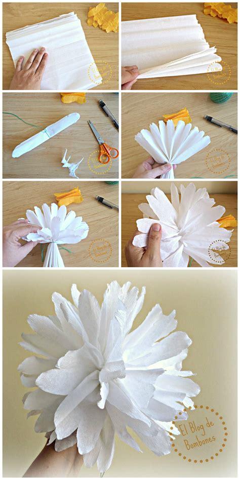 flores en papel seda paso a paso flores de papel crep 233 para tus fiestas de verano el blog
