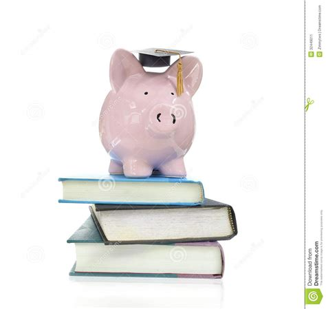 book piggy bank books and piggy stock image image 32449011