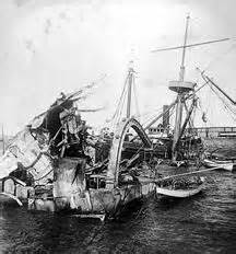 What Year Did The Uss Maine Sink by Uss Maine Blown Up In Harbor Cuba February 15