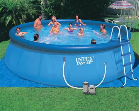 intex  easy set pool blue building depot suriname