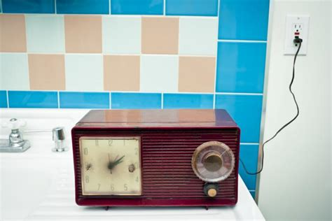 Retro Bathroom Radio World Radio Day