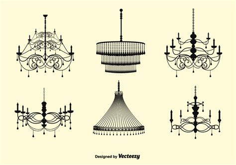 Free Chandelier Free Vector Chandelier Set Free Vector Stock Graphics Images