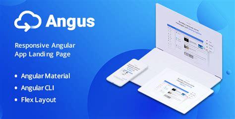 Angus Angular App Landing Page Angular Landing Page Template