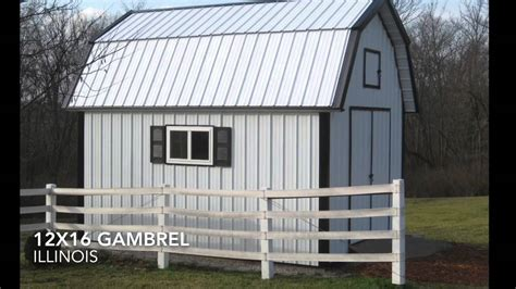gambrel shed plans  icreatablestv youtube