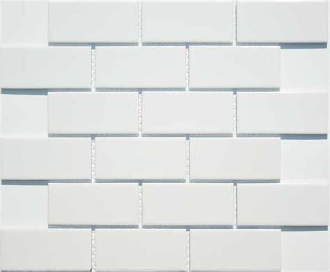 Kitchen Backsplash Mosaic Tiles Lyric 2 X 4 Gloss Glazed Ceramic Subway Tiles In Cloud White