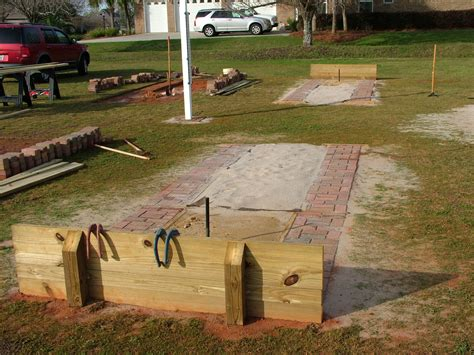 backyard horseshoe pit dimensions ideas horseshoe pit on pinterest horse shoe pit