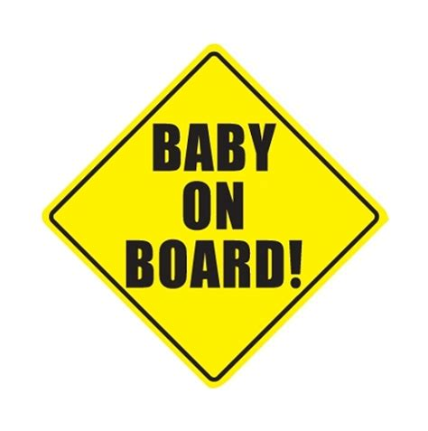baby on board vinyl die cut decal 4 sizes