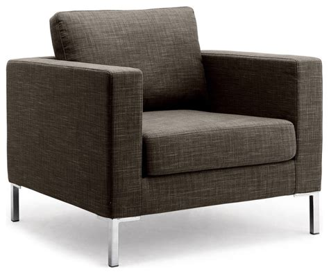 Armchair Modern by Portobello Grey Brown Premium Armchair Modern