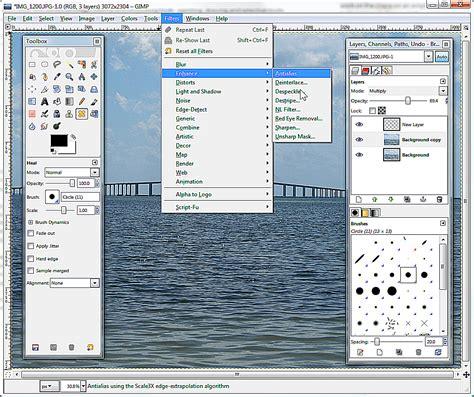 design website layout using gimp gimp free multi platform image editor review