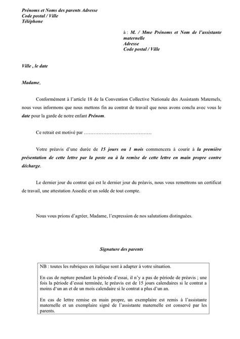 Modele De Lettre De Rupture De Contrat model 233 de rupture de contrat doc pdf page 1 sur 1