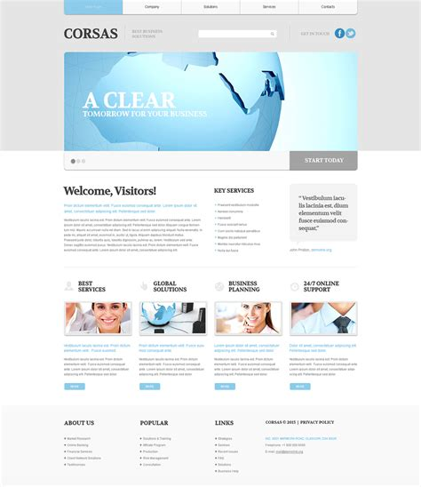 responsive business website templates business responsive website template 57956 by wt