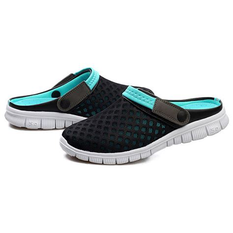 Sepatu Santai sepatu sandal slip on santai pria size 39 blue